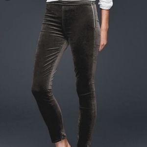 New Gap Dark Grey Side Zip Leggings Size 28R